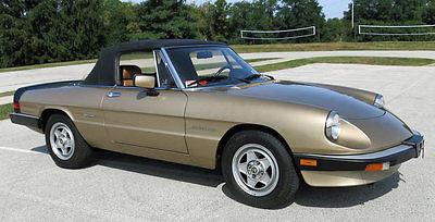 1986 Alfa Romeo Spider 1986 Alfa Romeo Spider Veloce