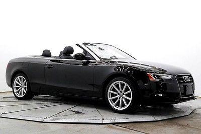 2015 Audi A5 2.0T Quattro Premium AWD Auto Conv Pwr Top Lthr Htd Seats Bluetooth 18in Alloys 20K Must See Save