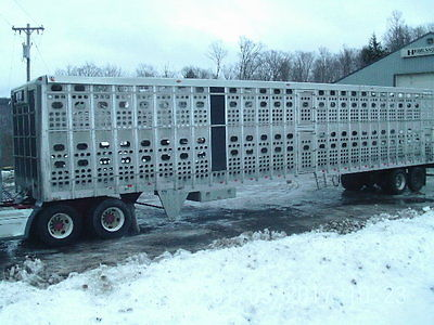 2008 EBY 53' Trans pork pig / hog Hauling trailer Fixer upper