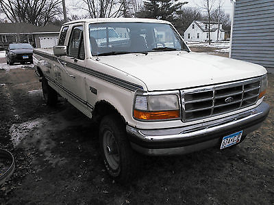 1994 Ford F-250 Ext Cab 1994 Ford F-250 Extended Cab Pickup Truck Off White w/ Tan Interior