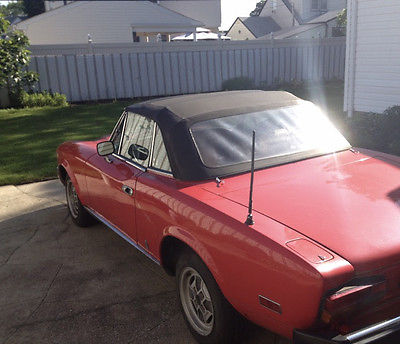 1980 Fiat Other Spider 1980 Red Fiat Spider Convertible Car