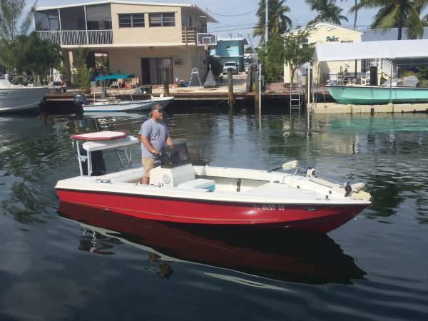 Renegade 18 FT Flats Boat with Rebuilt 150HP Mercury Optimax. READY TO GO.