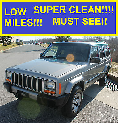 2001 Jeep Cherokee Sport Sport Utility 4-Door 2001 JEEP CHEROKEE SPORT SUPER CLEAN 4.0L MUST SEE!!! 00 99 98 97 96 95 LIMITED