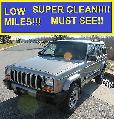 2001 Jeep Cherokee Sport Sport Utility 4 Door 2001 JEEP CHEROKEE SPORT  SUPER CLEAN 4.0