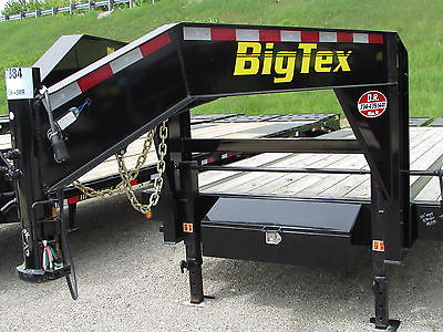 New Big Tex 35' Gooseneck Equipment Flatbed Trailer Mega Ramps DR Trailer