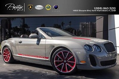 2013 Bentley Continental GT Supersports ISR Convertible 2-Door 2013 Bentley ISR