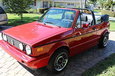 1992 Volkswagen Cabrio  MINT 1992 VOLKSWAGEN CABRIOLET ALL ORIGINAL 96K MILES
