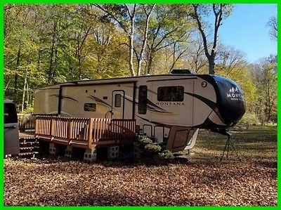 2016 Keystone Montana High Country 375FL 37.5' Fifth Wheel 4 Slides Fireplace CT