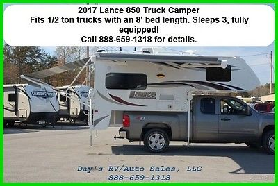 2017 Lance 850 Slide In Truck Camper 1/2 Ton Long Bed Pick Up Towable NEW RV