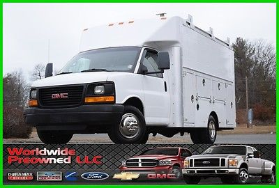 2008 GMC Savana Enclosed Utility Van 2008 GMC Savana G3500 Cutaway Enclosed Utility Van 6.0L Vortec Gas Chevy Used