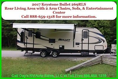 2017 Keystone Bullet Travel Trailer Bumper Pull Behind Camper 1/2 Ton Towable RV