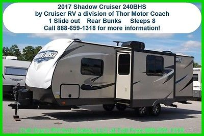 2017 Thor Shadow Cruiser 240BHS Bumper Pull Behind Camper Travel Trailer New RV