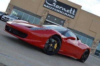 2010 Ferrari Other Base Coupe 2-Door 2010 FERRARI 458 COUPE * ROSSO * CARBON * LED * CARFAX CERT * FRESH SERVICE *