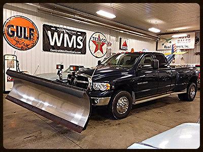 2004 Dodge Ram 3500 SLT 04 Blue SLT Ram Dually 1 Ton Pickup Truck Mopar Snow Plow Diesel 4X4 Auto WMS