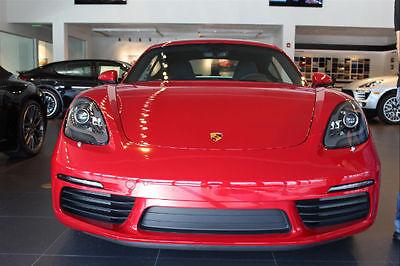 2017 Porsche 718 Cayman S 2017 Porsche 718 Cayman S 0 Miles Carmine Red Coupe 2.5L 4 cyls Manual