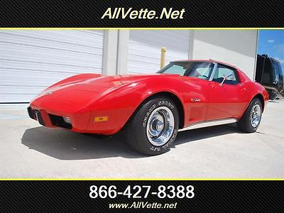 1975 Chevrolet Corvette 1 OWNER 4 SP COLD A/C 25K Miles Original Title-Bill of Sale-Window Sticker