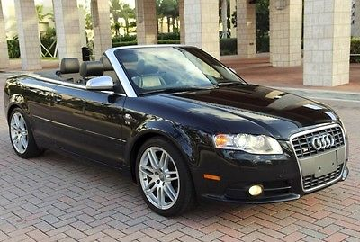2008 Audi S4 Cabriolet Convertible 2-Door 2008 Audi S4 Convertible 6 Speed Quattro AWD Navigation Heated seats Bose $65k