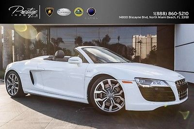 2012 Audi R8  2012 Audi R8 V10 Spyder, low miles! Clean condition, One Owner, clean carfax