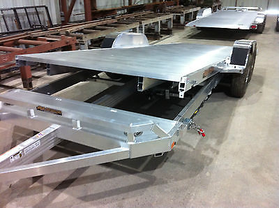 Aluma 8220H Tilt all Aluminum 20' Tilt Car Hauler 5200# axles