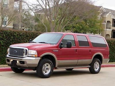 2001 Ford Excursion Limited 4WD 4dr SUV 2001 Ford Excursion Limited 4x4 3rd Row Heated Seats 88K Miles Mint 2002 Rare!