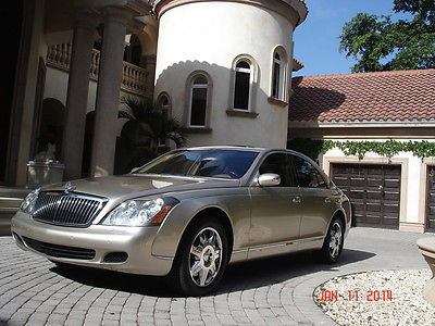 2004 Maybach MAYBACH 57 4 Door Sedan FLORIDA, MAYBACH 57, DESERT SAND OVER TAN, AWESOME CONDITION AND SERVICE HISTORY