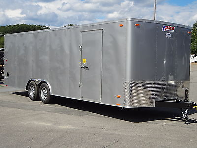 PACE 24' RAMP DOOR TRAILER NEW 2017 CAR HAULER LANDSCAPE TRAILER SILVER TRAILERS