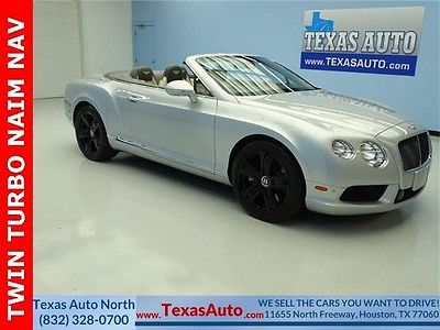 2013 Bentley Continental GT GTC V8 Convertible 2-Door WE FINANCE! 2013 GTC NAIM V8 TWIN TURBO AWD NAVIGATION REAR CAMERA TEXAS AUTO