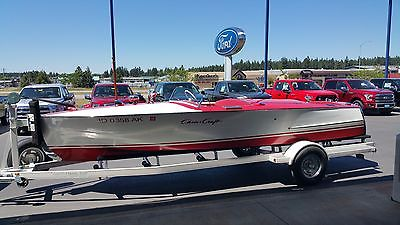 1948 Chris Craft  Boat Red and White Racing Runabout