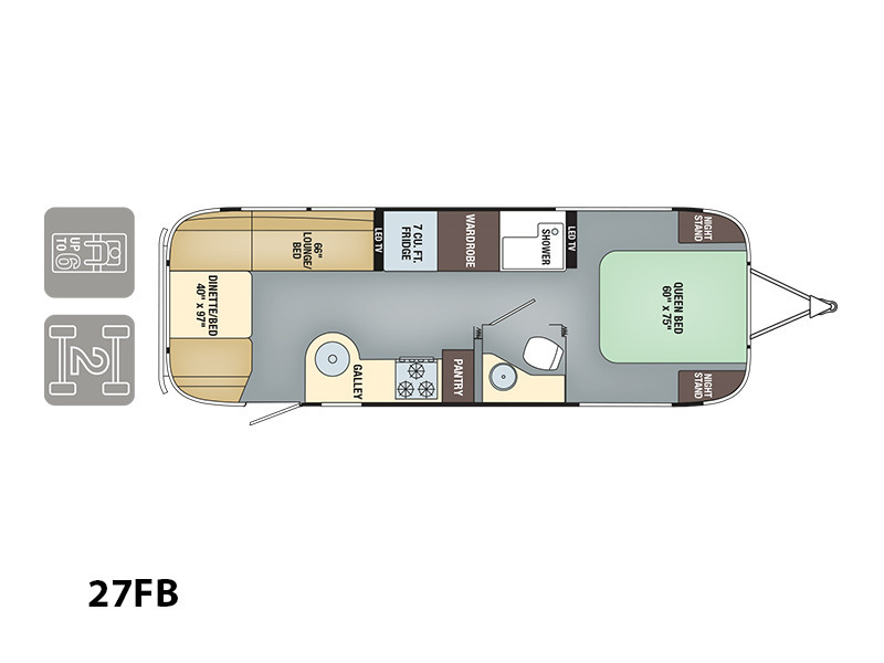 2017 Airstream Flying Cloud 27FB Tommy Bahama