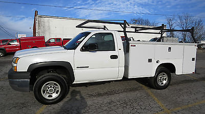 2005 Chevrolet Silverado 2500 HD 4X4 REG CAB 9FT UTILITY BED 6.0 AUTO EX-FLEET!!RUNS EXCELLENT!!SAVE THOUSANDS!!HARD TO FIND 9 FT UTILITY BED!NICE 1 !