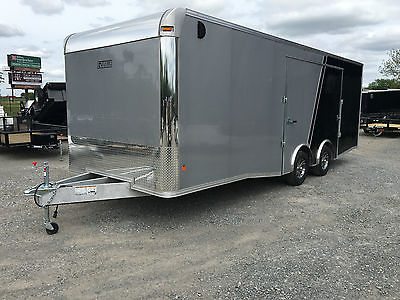 Mission EZ Hauler 8.5'x24' Aluminum Enclosed Trailer Car Hauler Silver and Black