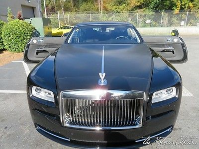 2016 Rolls-Royce Wraith  CARBON STEEL EDITION! CRYSTAL SPIRIT OF ECSTASY! 1-OWNER CLEAN CARFAX CERTIFIED!