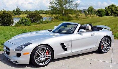 2012 Mercedes-Benz SLS AMG Base Convertible 2-Door 2012 Mercedes Benz SLS AMG Roadster B&O Sound Like New!!
