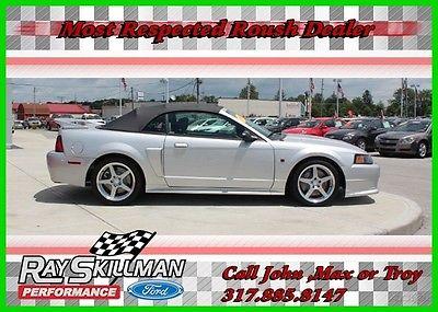 2003 Ford Mustang 2003 Roush Mustang Convertible Supercharged 379HP 2003 GT Used 4.6L V8 16V Manual RWD Convertible 03 2016 16