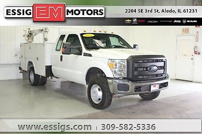 2015 Ford F-350 XL Used 15 Ford F-350SD Extended Cab 4x4 RKI Utility Box Liftmore Crane 6.2L V-8