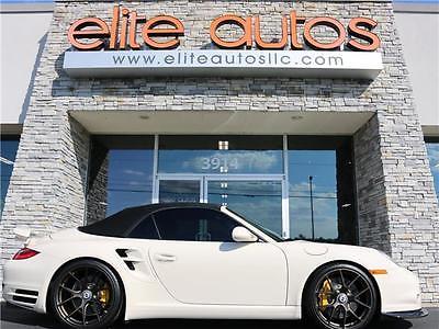 2012 Porsche 911 S Turbo 2012 Porsche 911 S Turbo 10,640 Miles Cream White Convertible Flat 6 Cylinder En