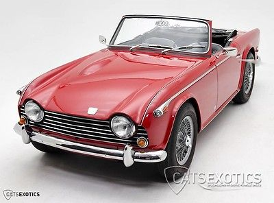 1968 Triumph TR-5  Restored FI Fuel Injected Wire Wheels Left Hand Drive 1967 1969 TR5 Red