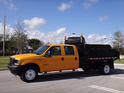 2002 Ford F-550 10ft Dump Truck Crew Cab 2002 Ford F550 Crew Cab Dump FL Truck Government Owned 7.3L Diesel 1 Owner