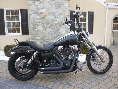 Harley-Davidson FXDWG Dyna 2013 Black FXDWG Wide Glide!