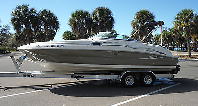 2006 Sea Ray 240 Sundeck Searay Deck Boat Low Hours Fresh Water New Trailer