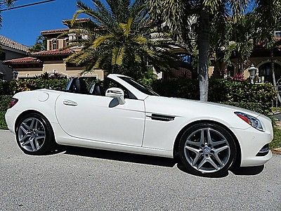 2015 Mercedes-Benz SLK-Class Base Convertible 2-Door 2015 MERCEDES SLK250 DIAMOND WHITE ONE OWNER FLORIDA MSRP NEW $61325