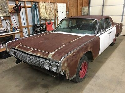 1964 Lincoln Continental 4dr Sedan 1964 Lincoln Continental - 430V8 Arctic White w/Black Leather Suicide Doors