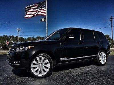 2015 Land Rover Range Rover LWB SUPERCHARGED 1 OWNER LWB*SUPERCHARGED*1 OWNER*BLACK/BLACK*PANO*MERIDIAN*CARFAX*WARRANTY*WE FINANCE*FL