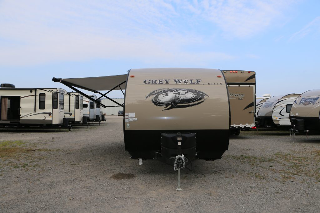 2017 Grey Wolf 22RR Travel Trailer Toy Hauler RV