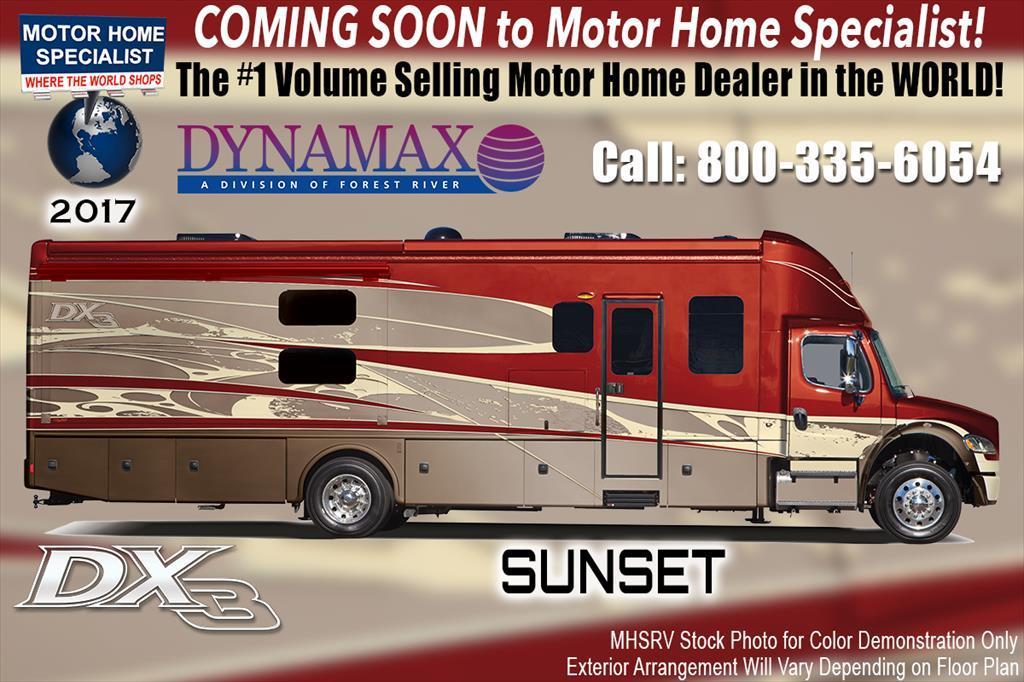 2017 Dynamax Corp DX3 37BH Bunk Super C W/Diesel Aqua Hot,