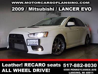 2009 Mitsubishi Evolution Evolution MR Sedan 4-Door 2009 Mitsubishi Lancer Evolution Automatic AWD I4 2.0L Turbocharger Gasoline