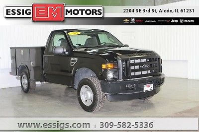 2009 Ford F-250 XL Used 09 Ford F-250SD Regular Cab XL 4x4 Knapheide Utility Box 5.4L V-8 Low Miles