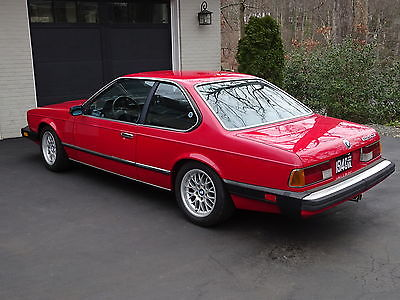 1985 BMW 6-Series Base Coupe 2-Door 1985 BMW 635CSi 5 Speed Sport Seats