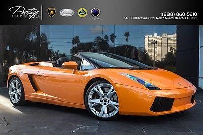 2008 Lamborghini Gallardo Spyder Convertible 2-Door 2008 lamborghini
