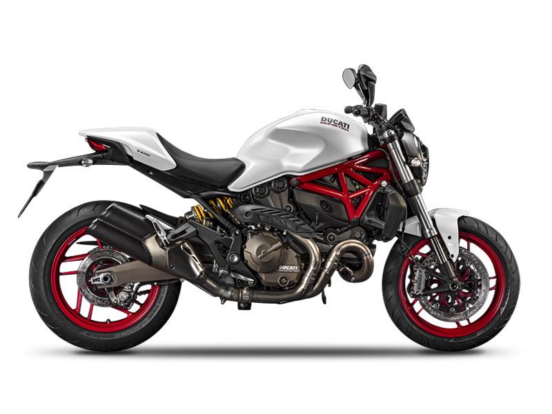 ducati monster 821 star white silk motorcycles for sale. Black Bedroom Furniture Sets. Home Design Ideas